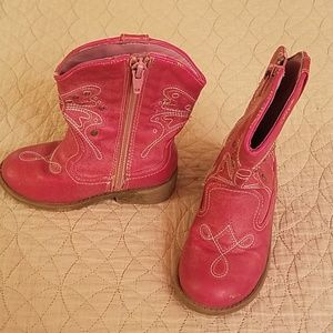 Target Shoes - Pink butterfly cowgirl boots size 8 toddler